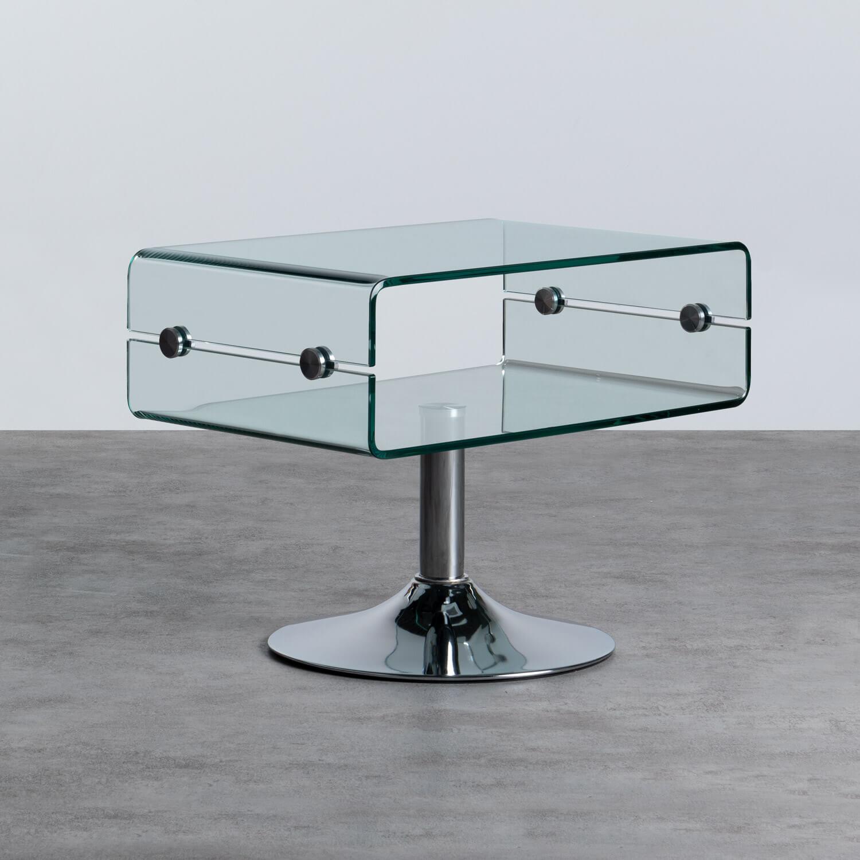 Tavolino da Caffé Rettangolare in Vetro (60x38 cm) Alpay, immagine della galleria 1