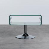 Tavolino da Caffé Rettangolare in Vetro (60x38 cm) Alpay, immagine in miniatura 4