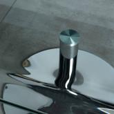 Tavolino da Caffé Rettangolare in Vetro (60x38 cm) Alpay, immagine in miniatura 5