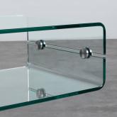 Tavolino da Caffé Rettangolare in Vetro (60x38 cm) Alpay, immagine in miniatura 7