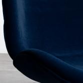 Sedia da Pranzo in Velluto e Acciaio Linus, immagine in miniatura 6
