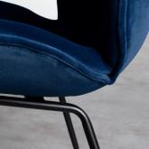 Sedia da Pranzo in Velluto e Acciaio Linus, immagine in miniatura 7