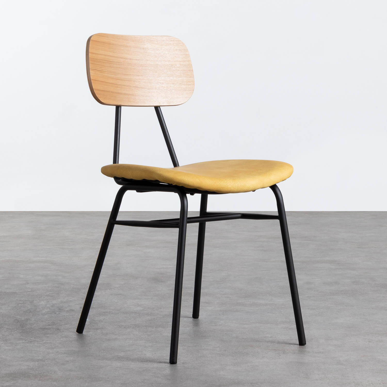 Sedia in MDF e Similpelle Tallor, immagine della galleria 1