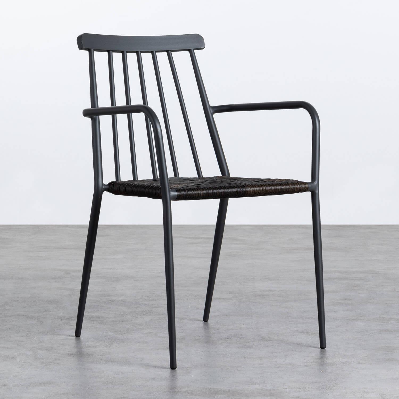 Sedia Outdoor in Rattan e Alluminio Honti, immagine della galleria 1