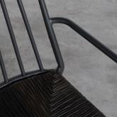 Sedia Outdoor in Rattan e Alluminio Honti, immagine in miniatura 6