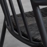 Sedia Outdoor in Rattan e Alluminio Honti, immagine in miniatura 7