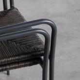 Sedia Outdoor in Rattan e Alluminio Honti, immagine in miniatura 12
