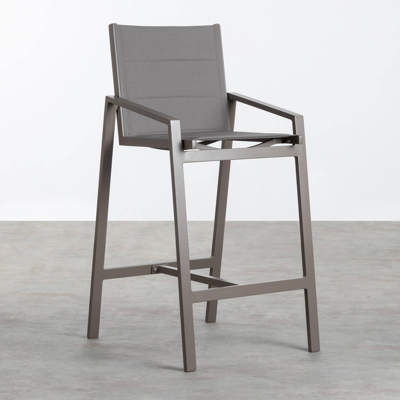 Sgabello Alto in Alluminio e Textilene  Amane (74 cm) , immagine della galleria 1