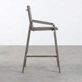 Sgabello Alto in Alluminio e Textilene  Amane (74 cm) , immagine in miniatura 3