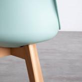 Sedia da Pranzo in Polipropilene e Tessuto Fine Freya Fabric, immagine in miniatura 4
