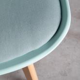 Sedia da Pranzo in Polipropilene e Tessuto Fine Freya Fabric, immagine in miniatura 6