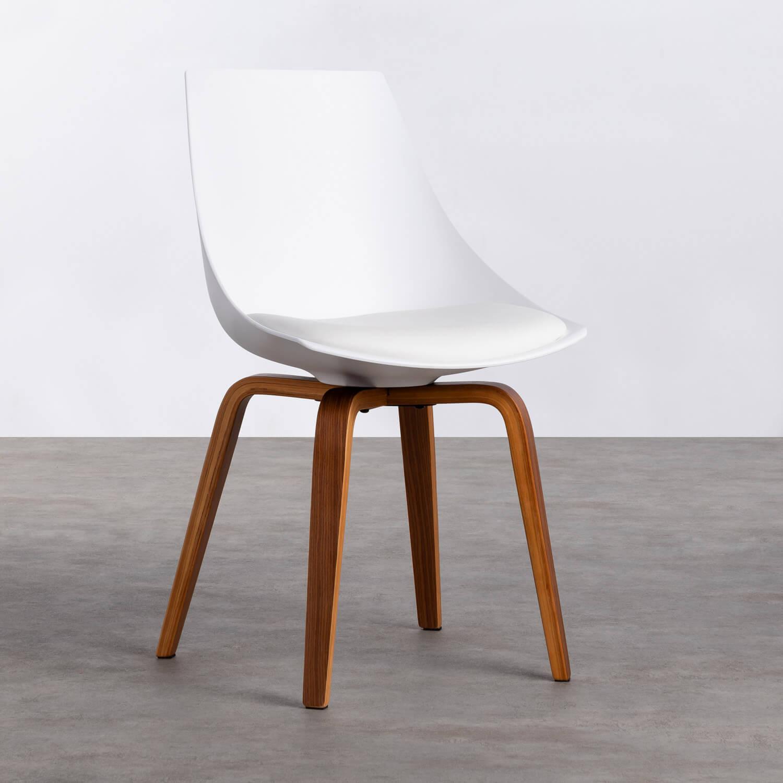 Sedia da Pranzo in Polipropilene e Legno Stile, immagine della galleria 1