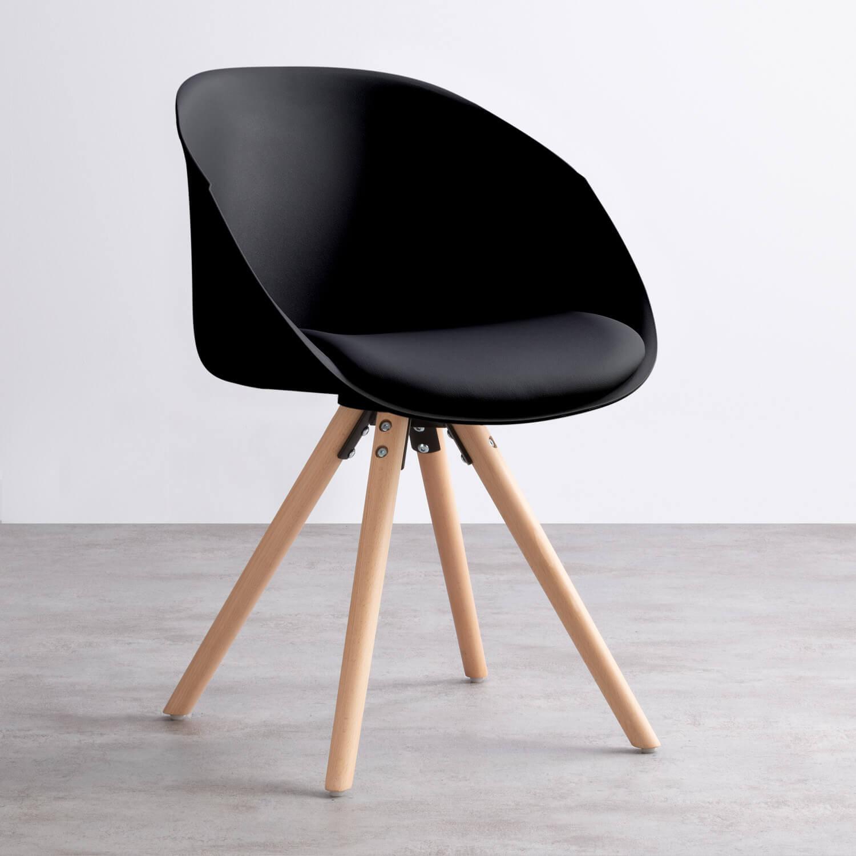 Sedia in Polipropilene e Legno Gara, immagine della galleria 1
