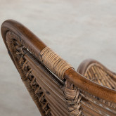 Poltrona con Braccioli in Rattan Naturale Tamam, immagine in miniatura 6