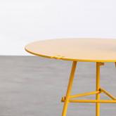 Tavolo Ausiliario Rotondo in Acciaio (50x45 cm) Bali, immagine in miniatura 5