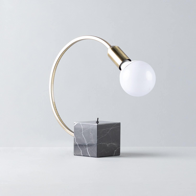 Lampada da Tavolo in Marmo e Ferro Holli, immagine della galleria 1