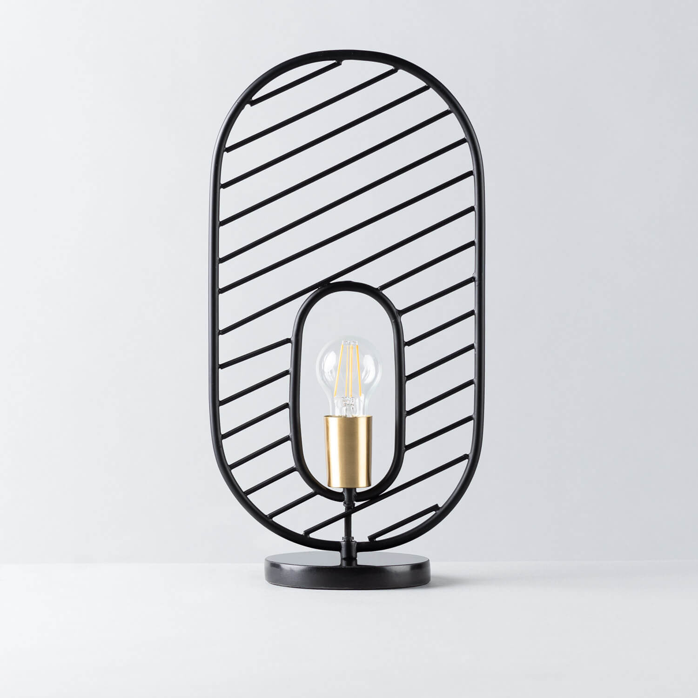 Lampada da Tavolo in Acciaio e Marmo Nima, immagine della galleria 1