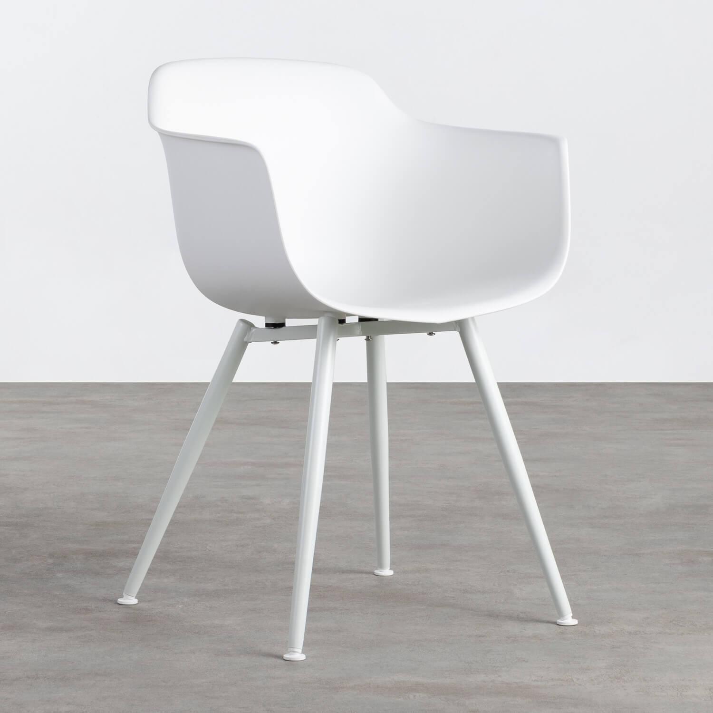 Sedia da Pranzo in Polipropilene e Metallo Lesly, immagine della galleria 1