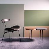 Tavolino da Caffé con 2 Ripiani in Legno e Acciaio (70x35 cm) Tri, immagine in miniatura 2