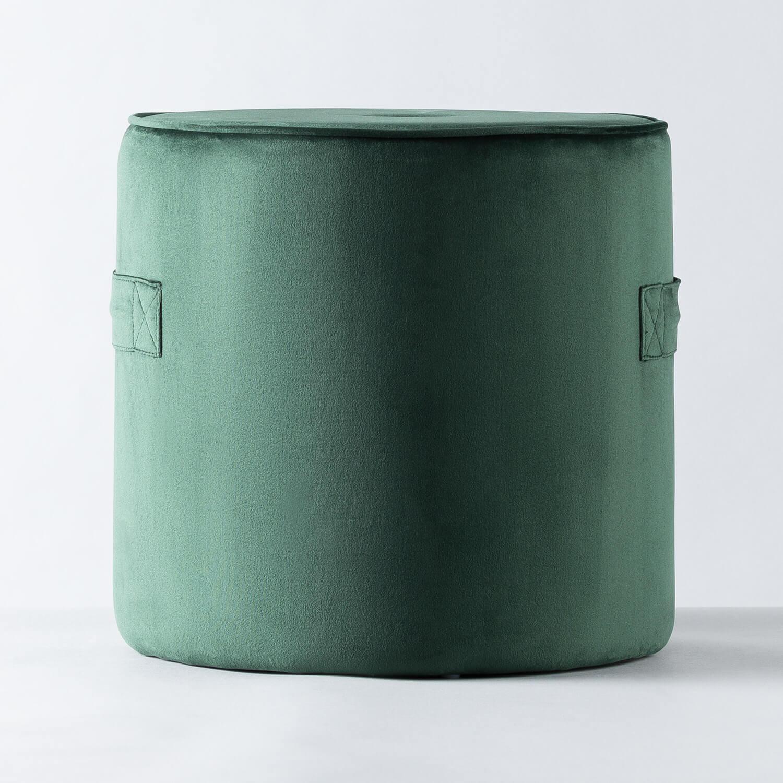 Pouf Rotondo in Velluto Velluto, immagine della galleria 1