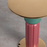 Tavolo Ausiliare Rotondo in MDF e Acciaio (Ø40cm) Kaile, immagine in miniatura 2