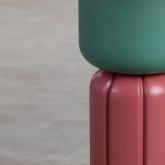 Tavolo Ausiliare Rotondo in MDF e Acciaio (Ø40cm) Kaile, immagine in miniatura 4