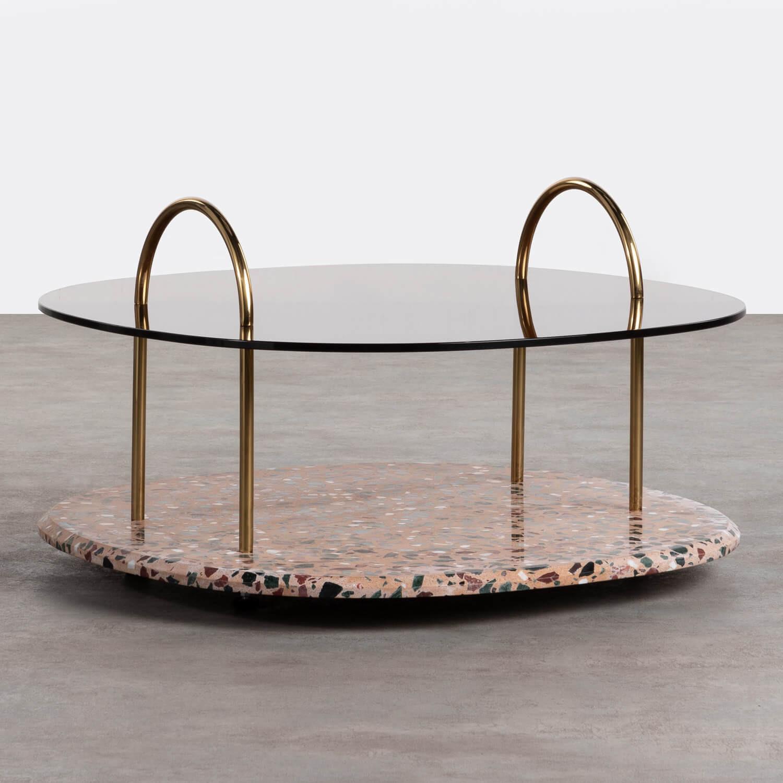 Tavolino da Caffé Quadrato in Cristallo (80x80 cm) Eity, immagine della galleria 1