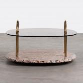 Tavolino da Caffé Quadrato in Cristallo (80x80 cm) Eity, immagine in miniatura 2