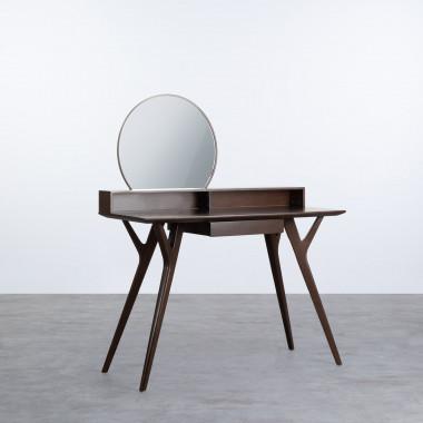 Toeletta in Legno con Specchio Biuti