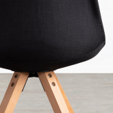 Sedia da Pranzo in Tessuto e Legno Stella Square Total Fabric, immagine in miniatura 4