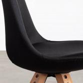 Sedia da Pranzo in Tessuto e Legno Stella Square Total Fabric, immagine in miniatura 6