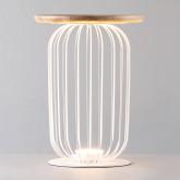 Lampada da Tavolo LED in Legno e Metallo Gabi, immagine in miniatura 3