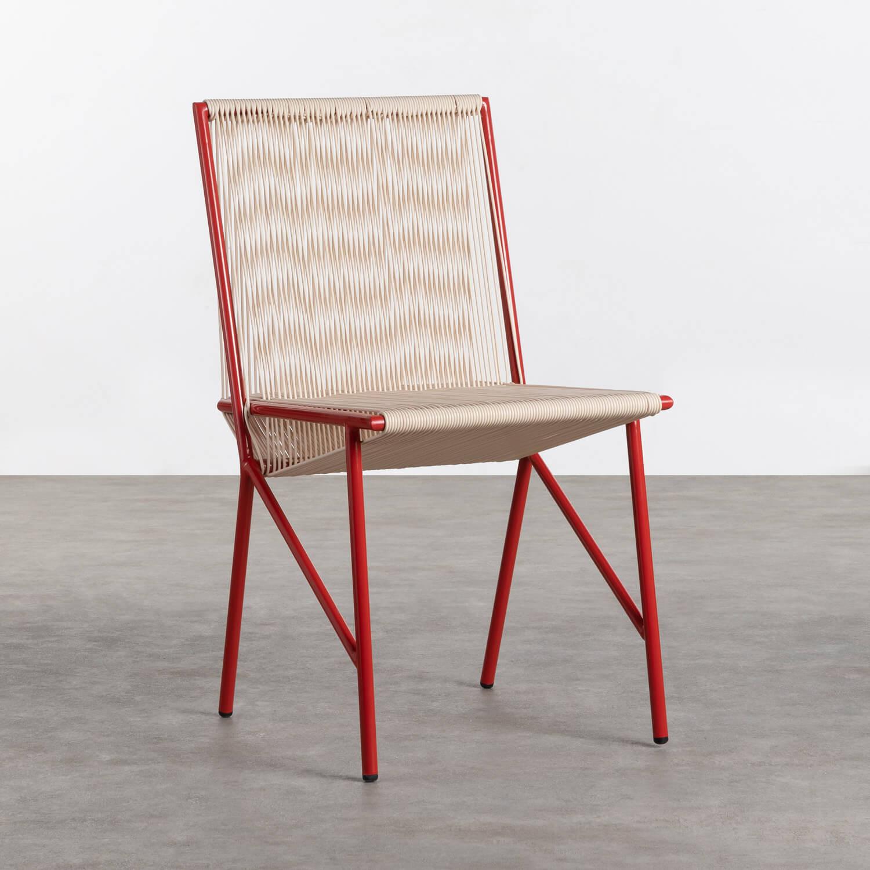 Sedia Outdoor in PVC e Acciaio Aki, immagine della galleria 1