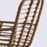 Sedia In Rattan Sintetico ABEIGE, immagine in miniatura 4