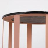Tavolo Ausiliario Rotondo in Marmo e Acciaio (Ø55 cm) Nebul, immagine in miniatura 2