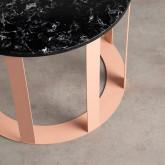 Tavolo Ausiliario Rotondo in Marmo e Acciaio (Ø55 cm) Nebul, immagine in miniatura 3