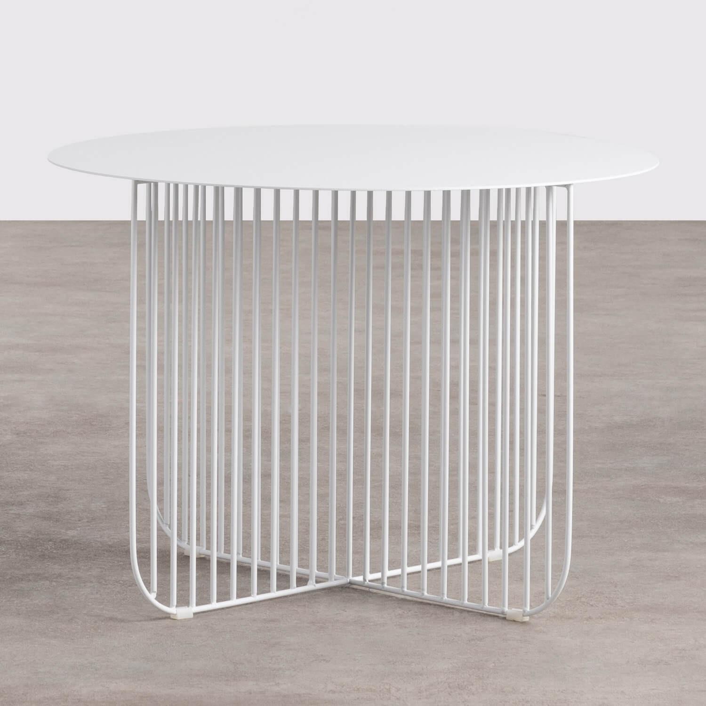Tavolino Rotondo in Acciaio (Ø55 cm) Orev, immagine della galleria 1