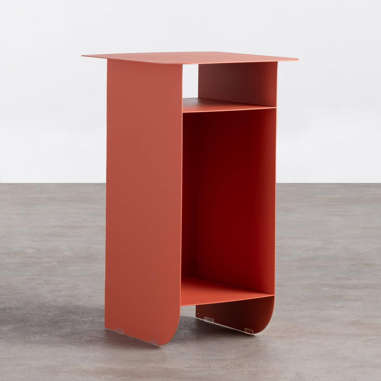 Tavolo Ausiliare con Vano Contenitore in Acciaio (37x36 cm) Xel, immagine della galleria 1