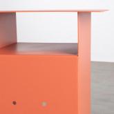 Tavolo Ausiliare con Vano Contenitore in Acciaio (37x36 cm) Xel, immagine in miniatura 6
