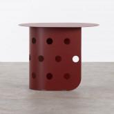 Tavolo Ausiliare Ovale (38x52 cm) in Acciaio Maop, immagine in miniatura 2