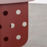 Tavolo Ausiliare Ovale (38x52 cm) in Acciaio Maop, immagine in miniatura 7