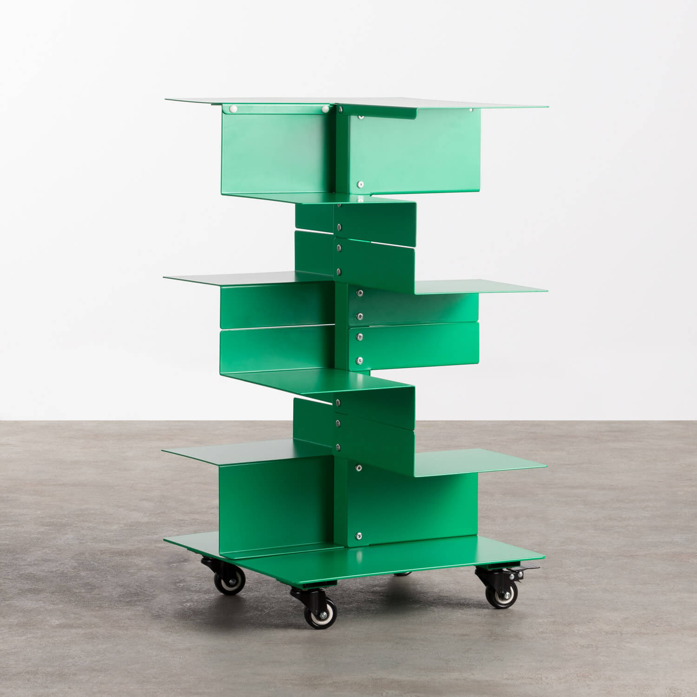 Libreria con Ruote in Metallo Wilde, immagine della galleria 1