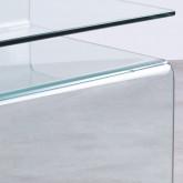 Tavolo Ausiliario Quadrato in Vetro (42x38 cm) Erox, immagine in miniatura 5