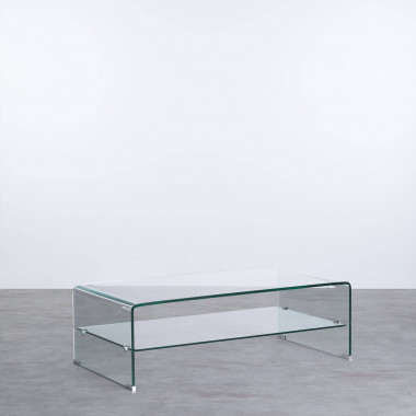 Tavolino da Caffé Rettangolare in Vetro (110x55 cm) Alessa