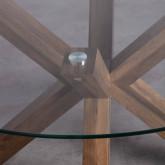 Tavolo da Pranzo Rotondo in MDF e Cristallo (Ø120 cm) Vuoto, immagine in miniatura 4