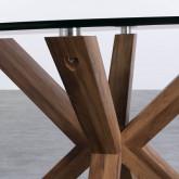 Tavolo da Pranzo Rotondo in MDF e Cristallo (Ø120 cm) Vuoto, immagine in miniatura 5