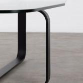 Tavolino Rettangolare in Cristallo Temperato e Acciaio (120x70 cm) Ruls, immagine in miniatura 5