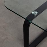 Tavolino Rettangolare in Cristallo Temperato e Acciaio (120x70 cm) Ruls, immagine in miniatura 6