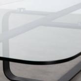 Tavolino Rettangolare in Cristallo Temperato e Acciaio (120x70 cm) Ruls, immagine in miniatura 7