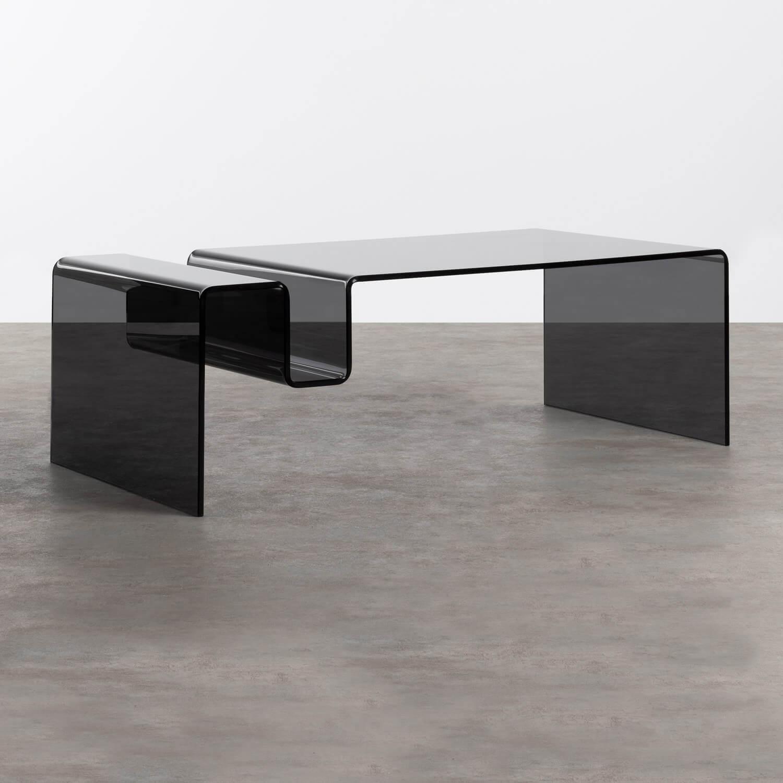 Tavolino Rettangolare in Cristallo Temperato (120x60 cm) Tida, immagine della galleria 1